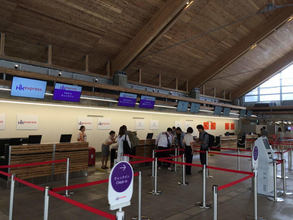 みやこ下地島空港 国際線チェックインカウンター