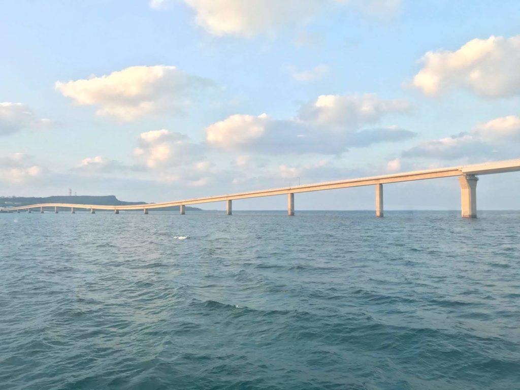モンブランから見える伊良部大橋
