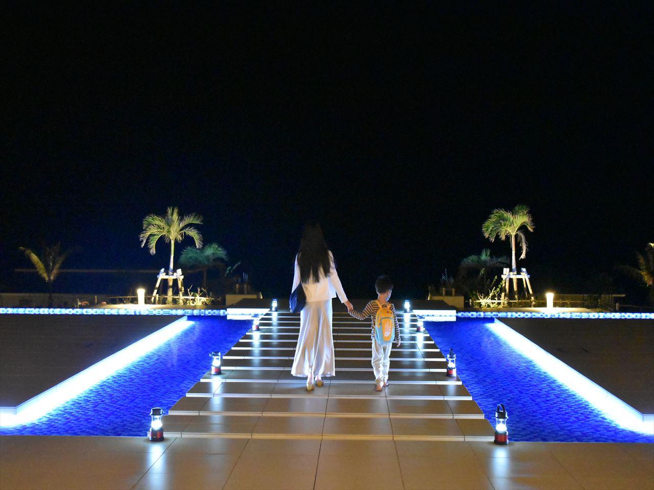 シーウッドホテル ライトアップ_R