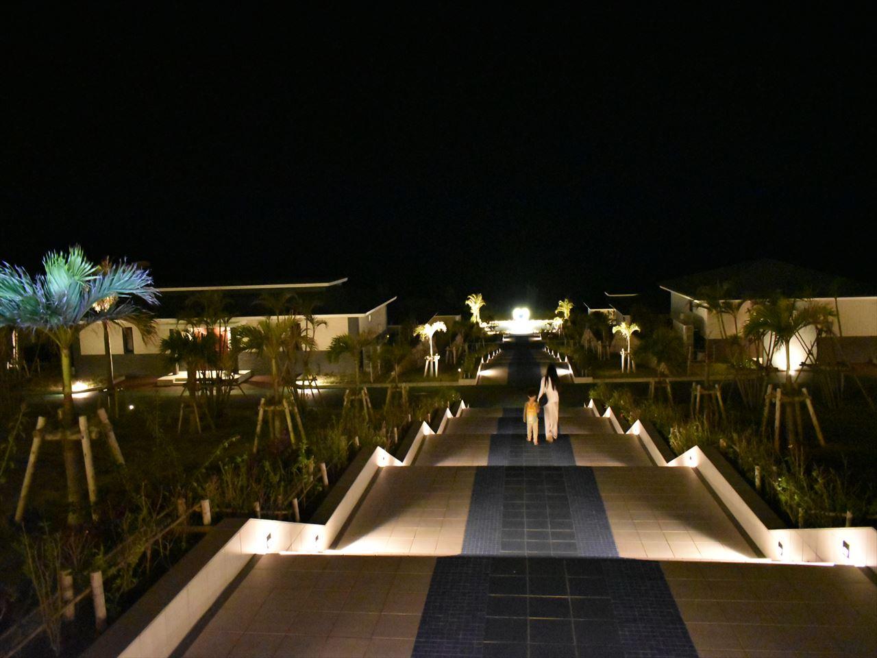 シーウッドホテル 大階段ライトアップ_R