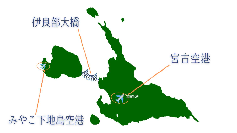 宮古島空港マップ