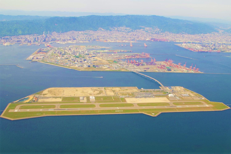神戸空港の上空写真