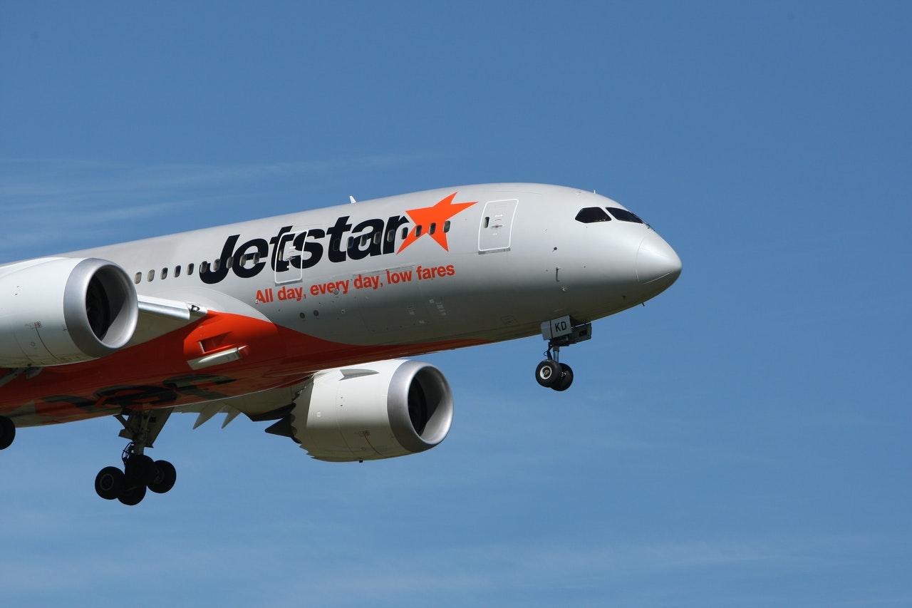ジェットスターの飛行機