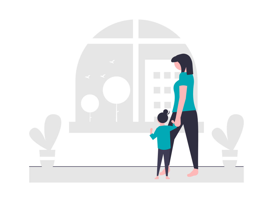 母親と子供の幸せな時間