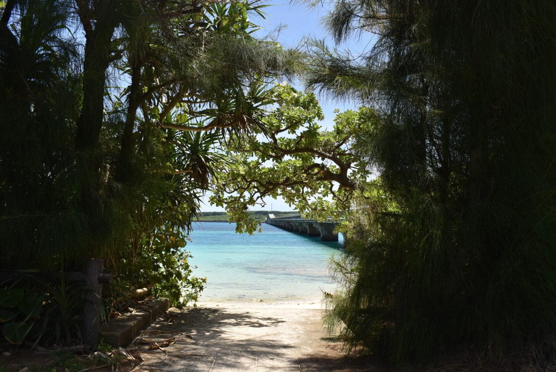 前浜農村公園のビーチ入り口